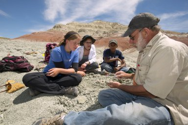 Dr. Richard Stucky in the Field with Teen Science Scholars.