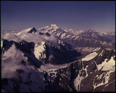 Aerial view of high peaks