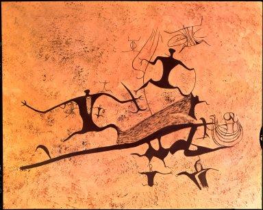Maori rock drawing