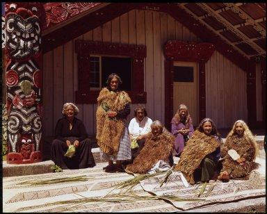 Elderly women of the Tuhoe tribe