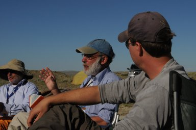 Teen Science Scholars in the field with Richard Stucky and Paul Rosen