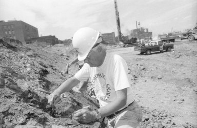 Excavation under Coors Field