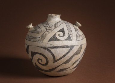 Socorro Black on White Pottery Canteen.