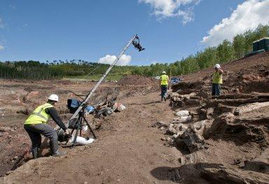Snowmastodon Excavation, People & Fossils