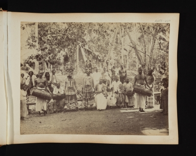 Group of native dancers and musicians in Sri Lanka.