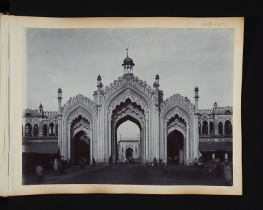 Ornate Gate or Entrance to a building in Agra, India.