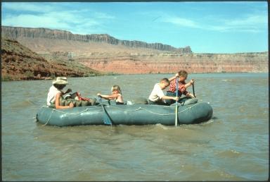 Gaskill Family on a raft