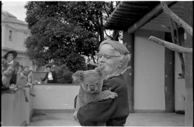 Muriel Bailey with koala