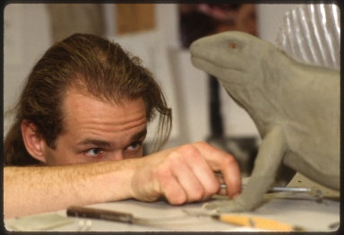 Gary Staab working on models