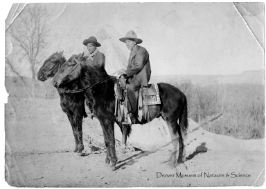 Men on horseback