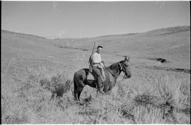 Jack Putnam on horseback