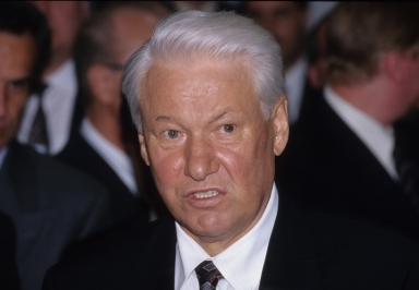 Boris Yeltsin's visit to the museum