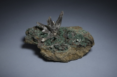 Quartz and malachite
