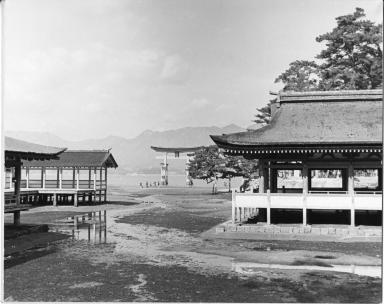 The Torii gate at Itsukushima Shrine
