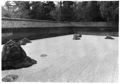 Zen Buddhist temple dry garden
