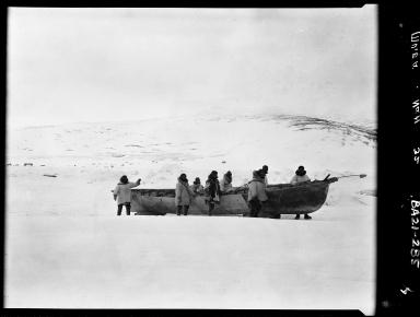 Oomiak and Eskimos