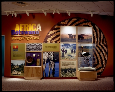 Entrance wall for Africa Botswana exhibit
