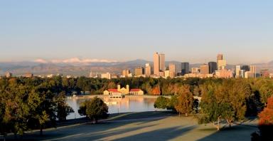 Denver Skyline in Fall
