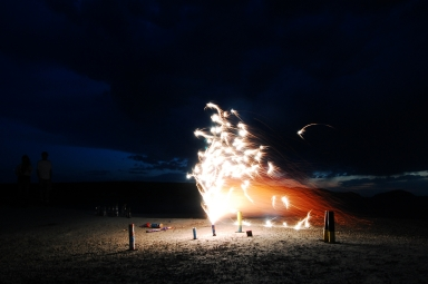 Fireworks at Fossil Fest with Teen Science Scholars