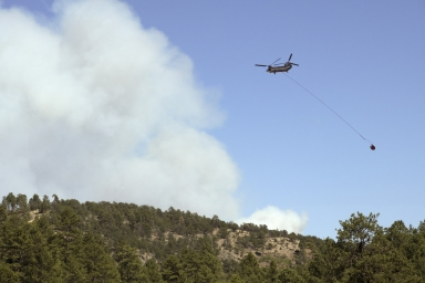 Forest fire suppression near Torriet Lakes Great Kiva Site