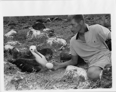 Jack Murphy with Albatross