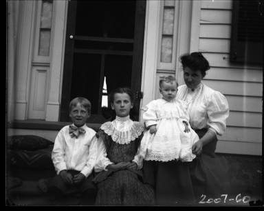 Mrs. J D. Figgins and her children