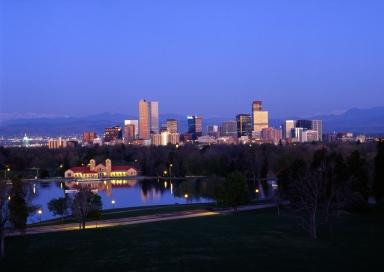 Denver Skyline in Early Morning