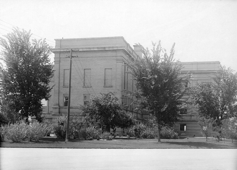 Rear view of Museum building on eastern side.