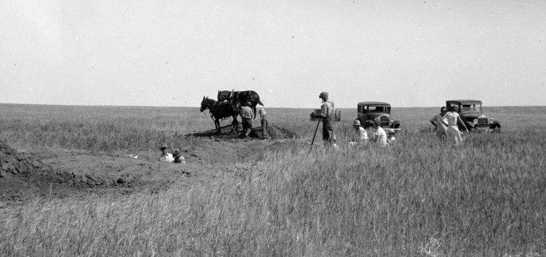 Overview of excavation at Haviland, KS