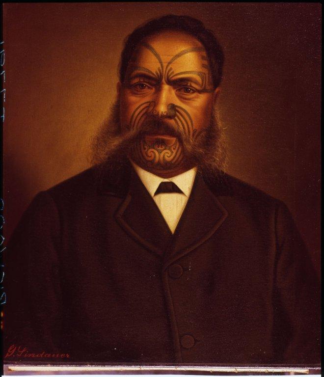 Lindauer Painting of male Maori