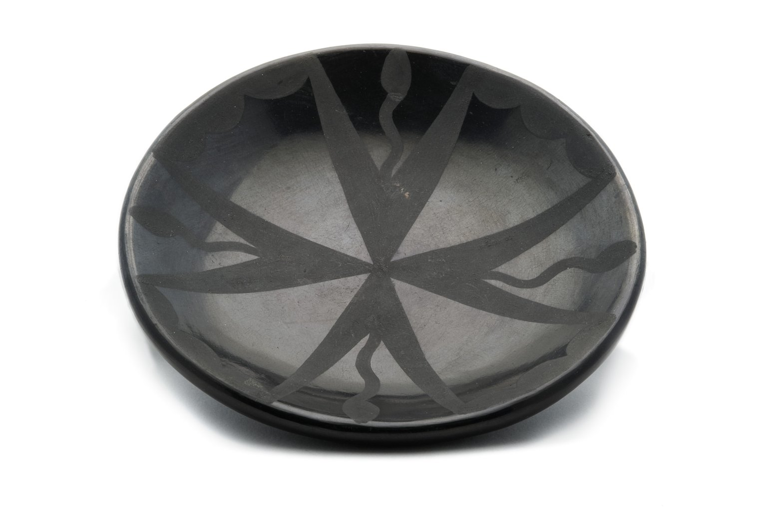 Blaclware pottery plate