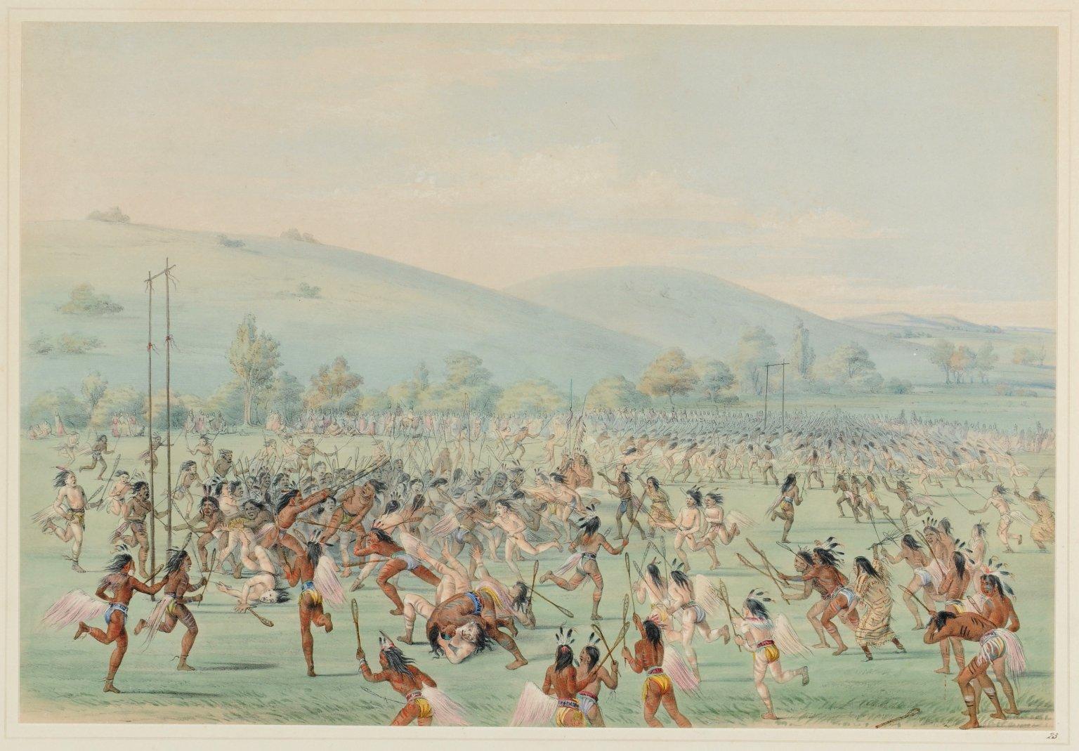 An Indian Ball-Play.