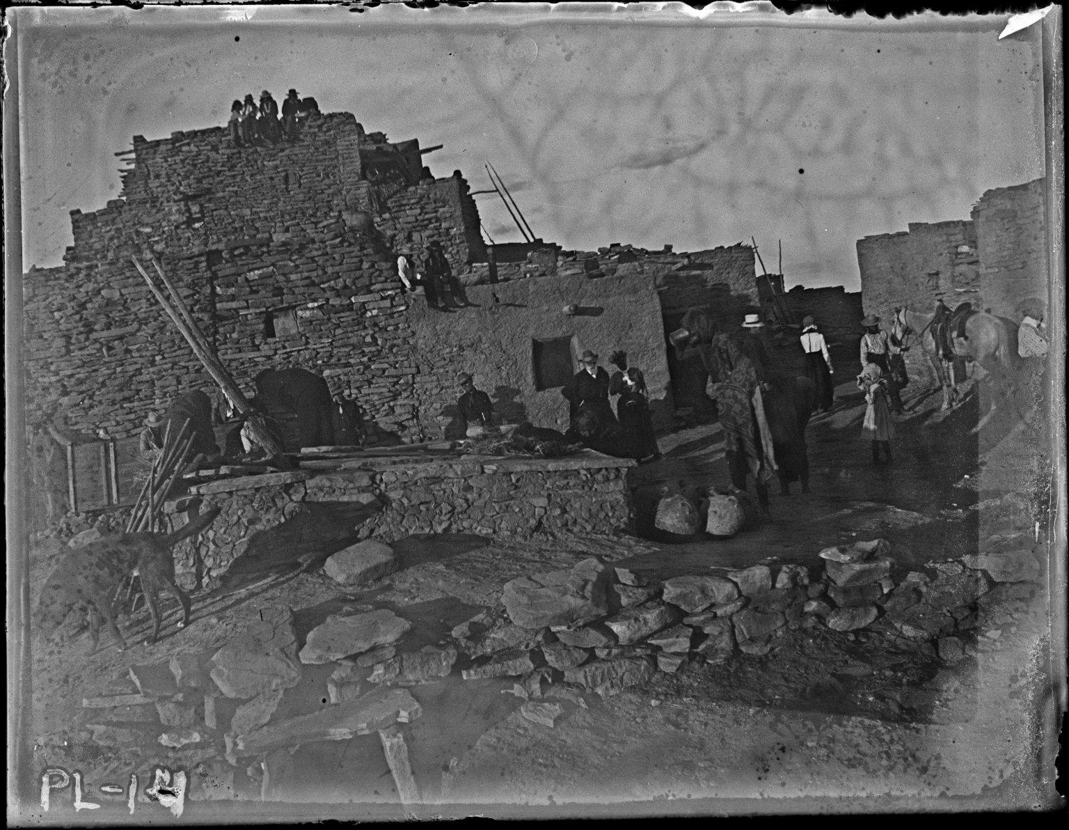Backwall of Pueblo house