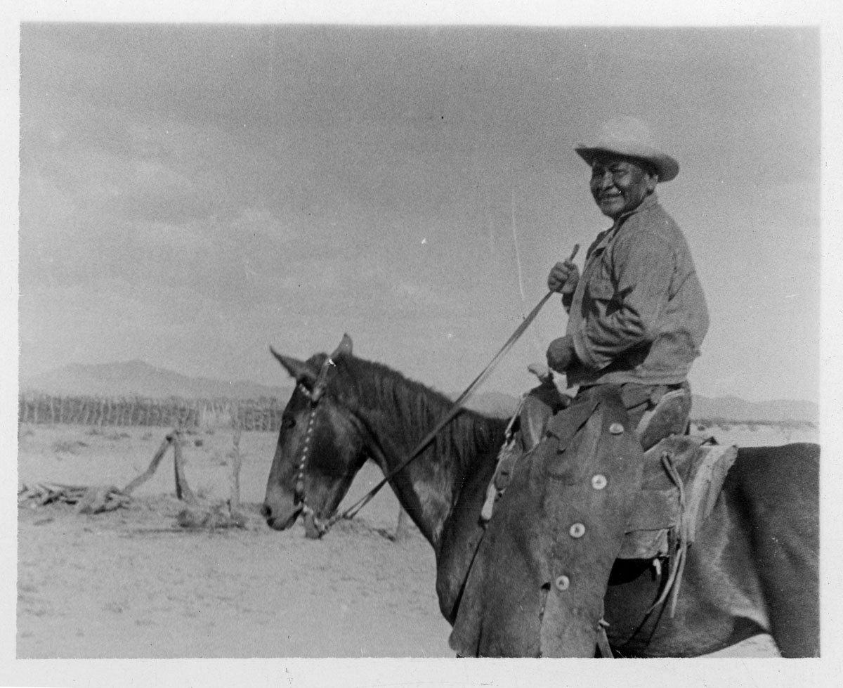 Tohono O'odham Man on Horse