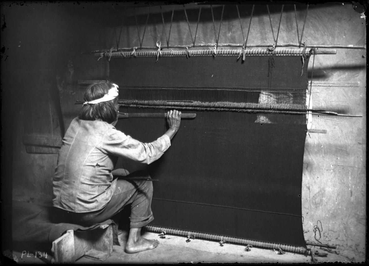 Weaver in Kiva