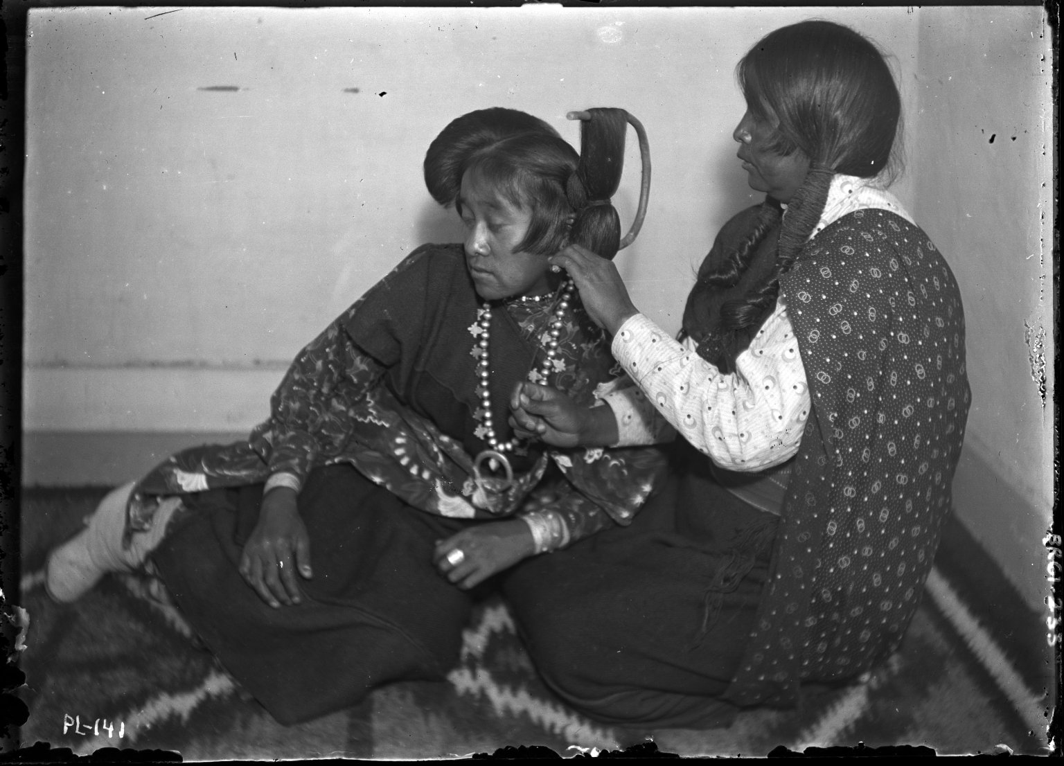 Hair dressing, Ruth and mother