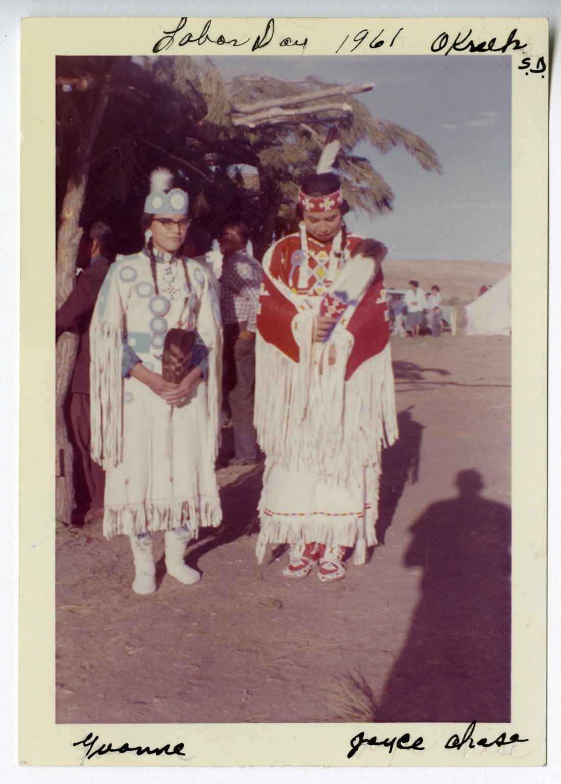 Joyce and Yvonne Chase at Okreek Pow Wow