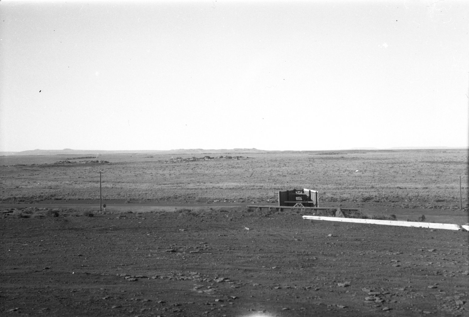 Crater on horizon
