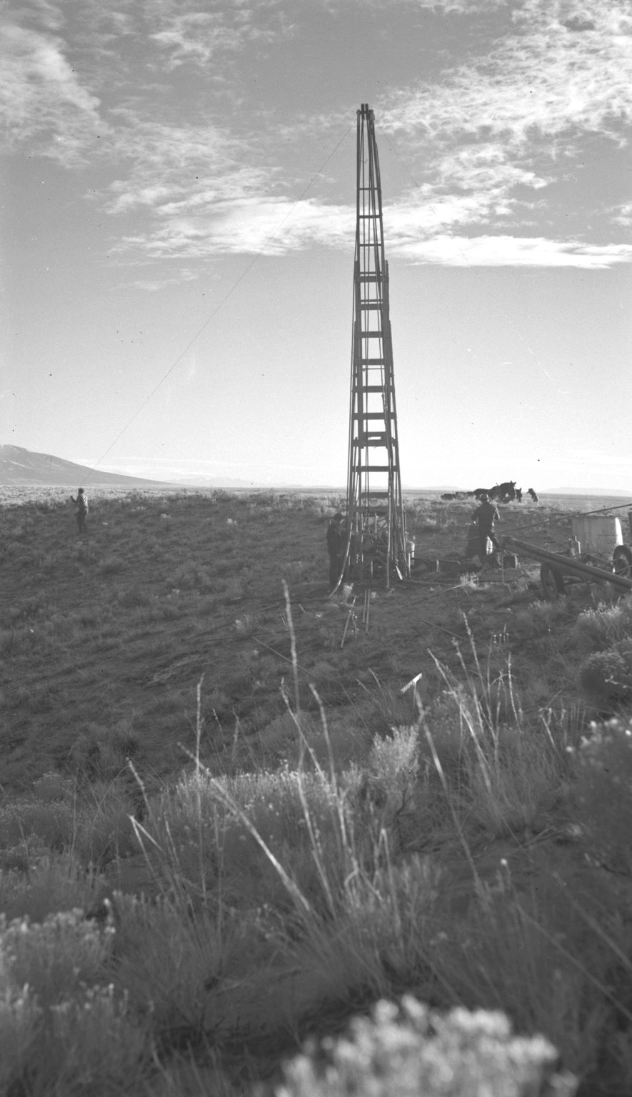 Drilling rig during excavation