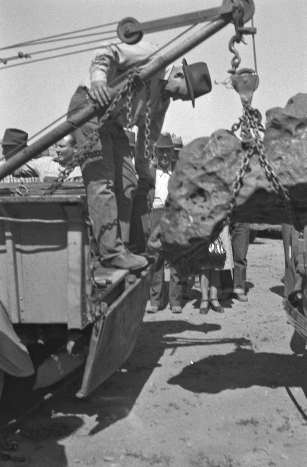Specimen being loaded for transport