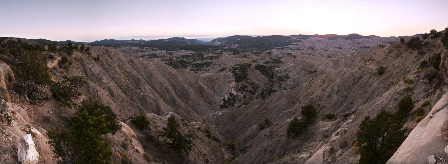 The setting sun gives a special glow to the Kaiparowits Plateau.