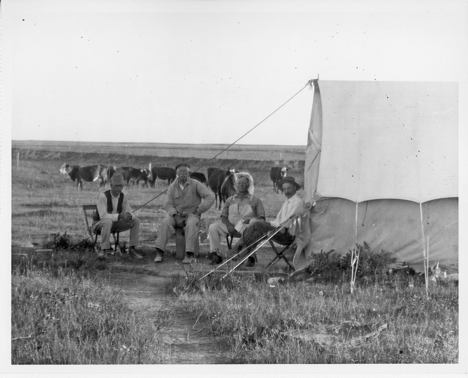 Field Crew and Camp Scene Horsetail Creek Excavation