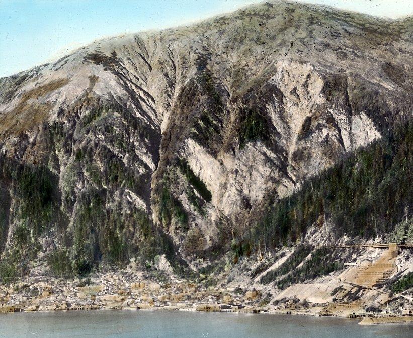 Bird's eye view of Juneau, Alaska