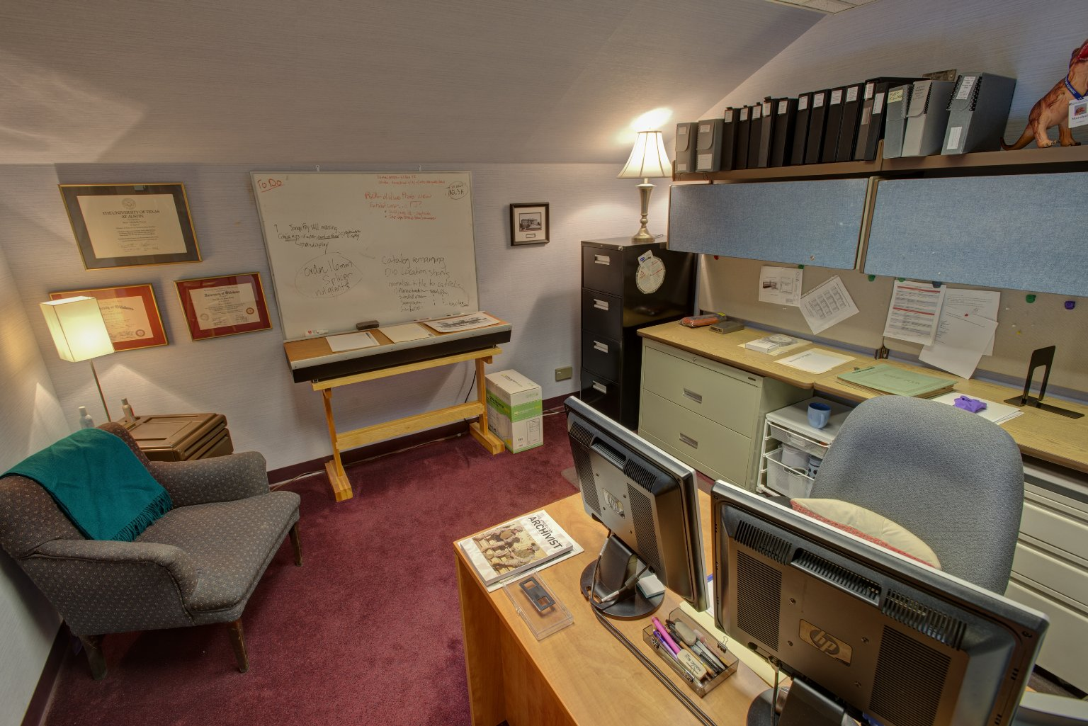 Image Archivist's office before move to ECF building.