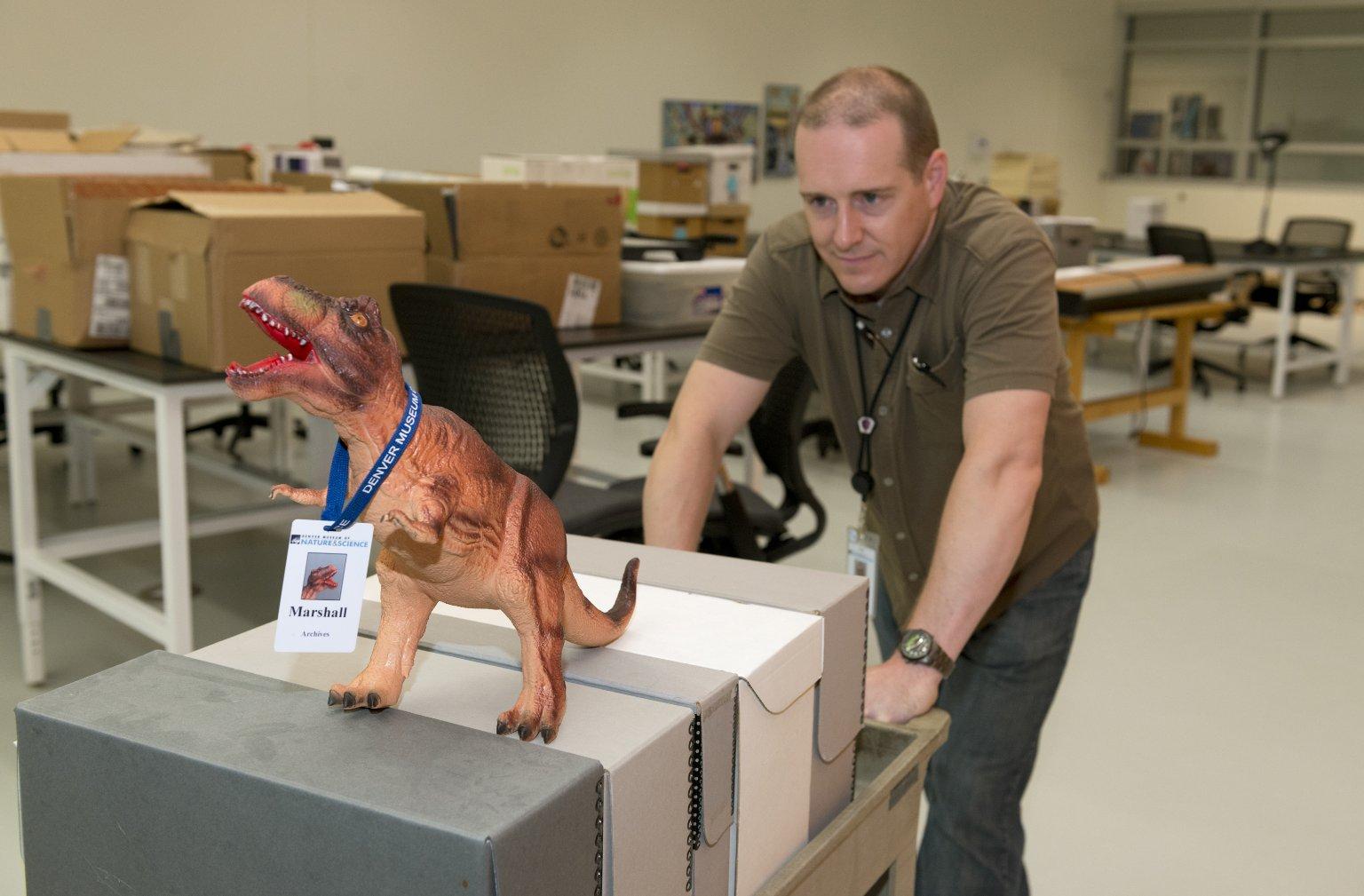 Archivist Sam Schiller moving to ECF building 2014