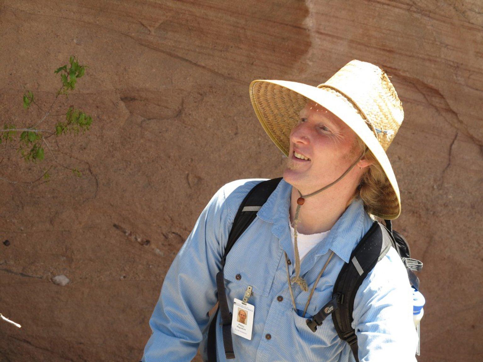 James Hagadorn leading a field trip.