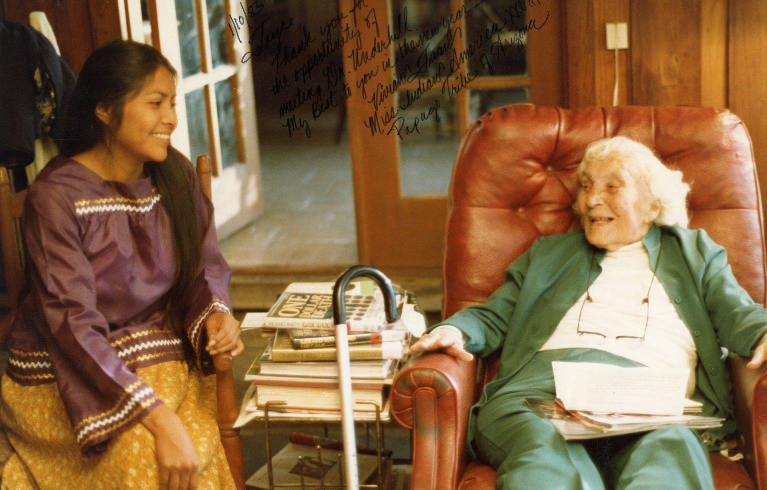 Vivian Juan and Ruth Underhill