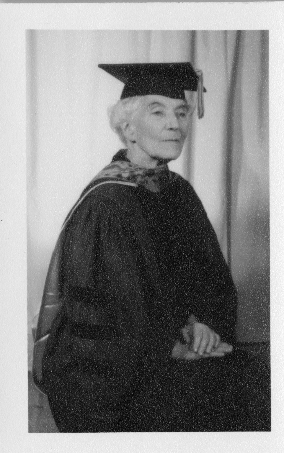 Ruth Underhill in Cap and Gown