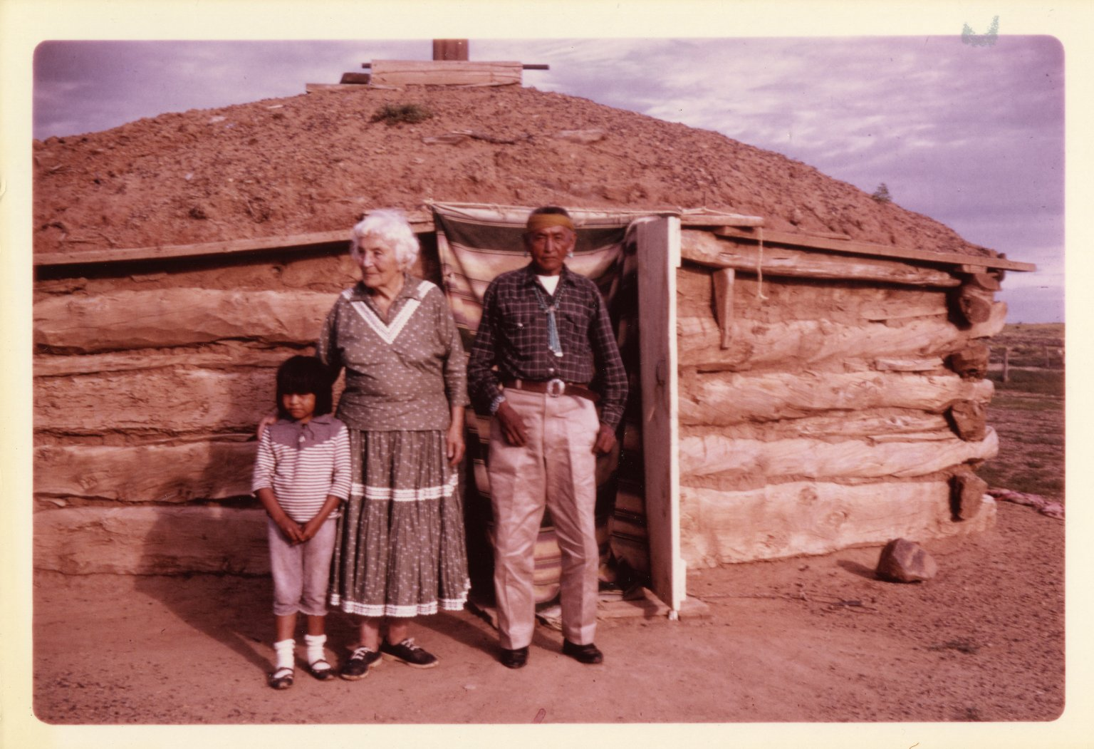 Ruth Underhill with Unidentified Navajo Man and Child