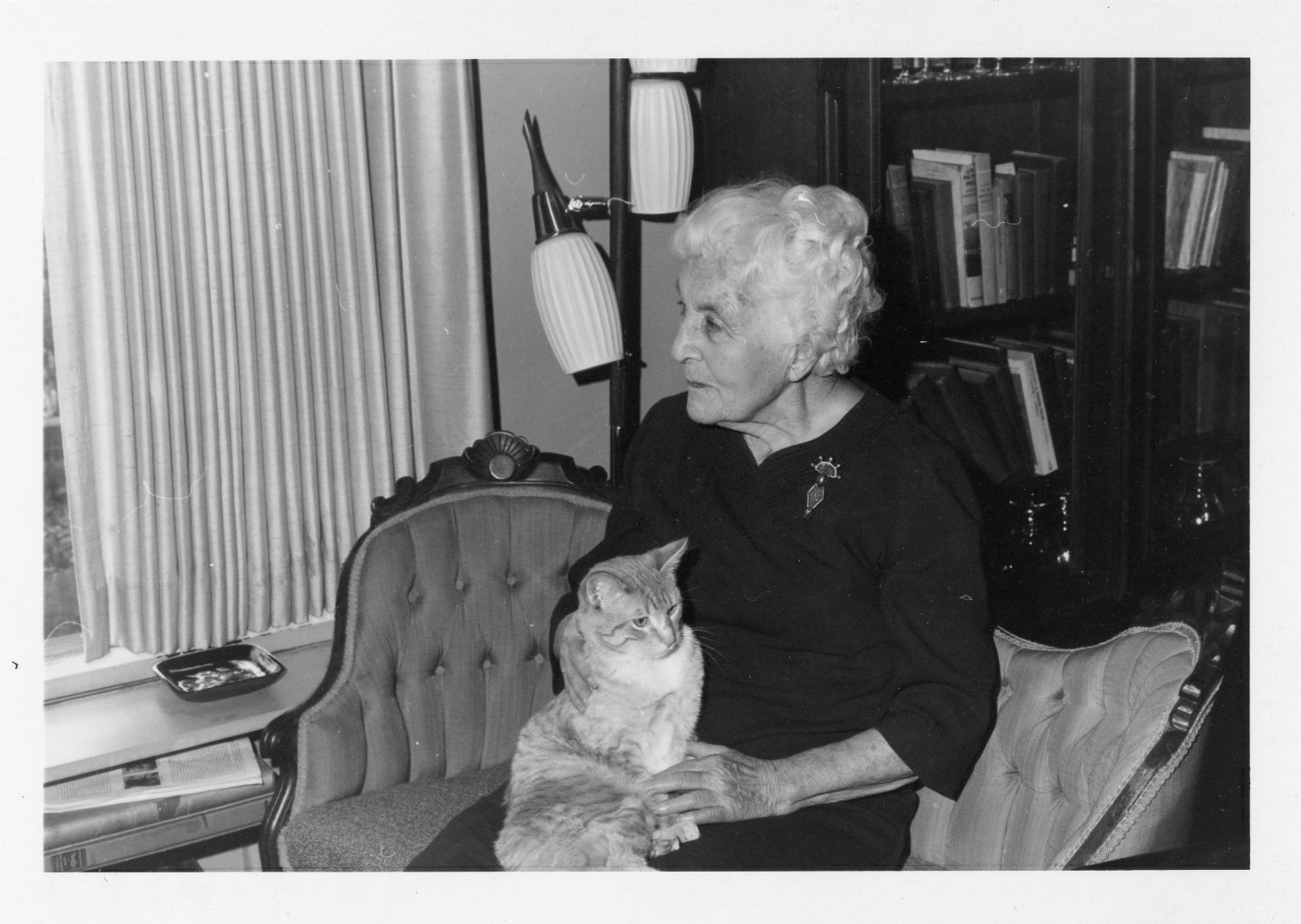 Ruth Underhill and her Cat